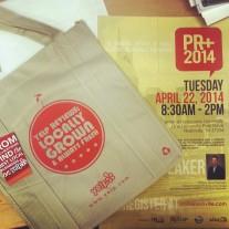 PR+ 2014 flier designed by duGard Ellis PR; gift bags courtesy of Yelp Nashville