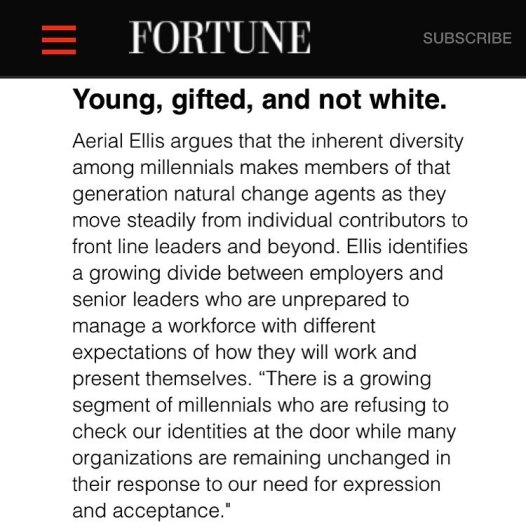 Aerial Ellis Fortune Magazine  - Young Gifted and Not White