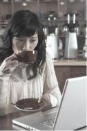 The Original Millennial at coffee shop - author Aerial Ellis